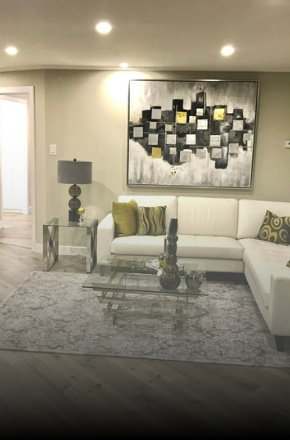 Image depicts the inside of a condo from a interior painting project in Toronto.