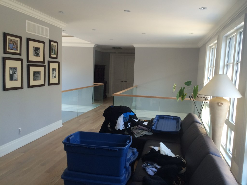 Image depicts the interior of a Schomberg home, which was the location of the latest interior painting in Schomberg project by Arkadys Painting.