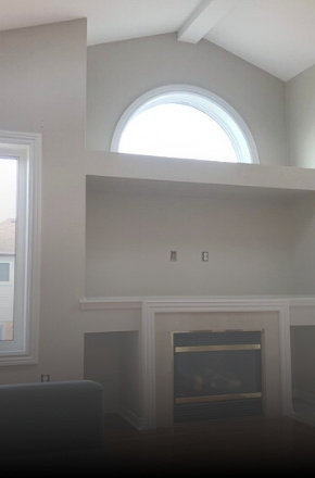 Image depicts the inside of a home which was the site of an interior painting project by Arkadys Painting.