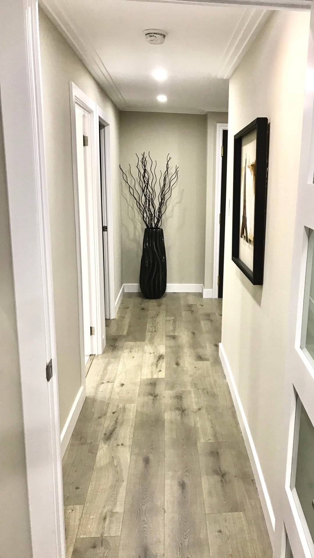 Interior painting for residential hallway.